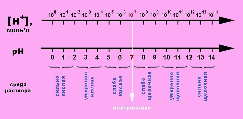 Шкала значений pН
